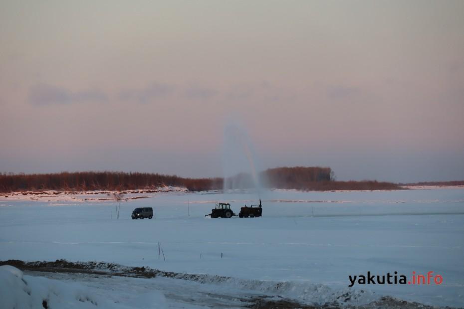 На днях могут открыть ледовую переправу Хатассы - Павловск в Якутии