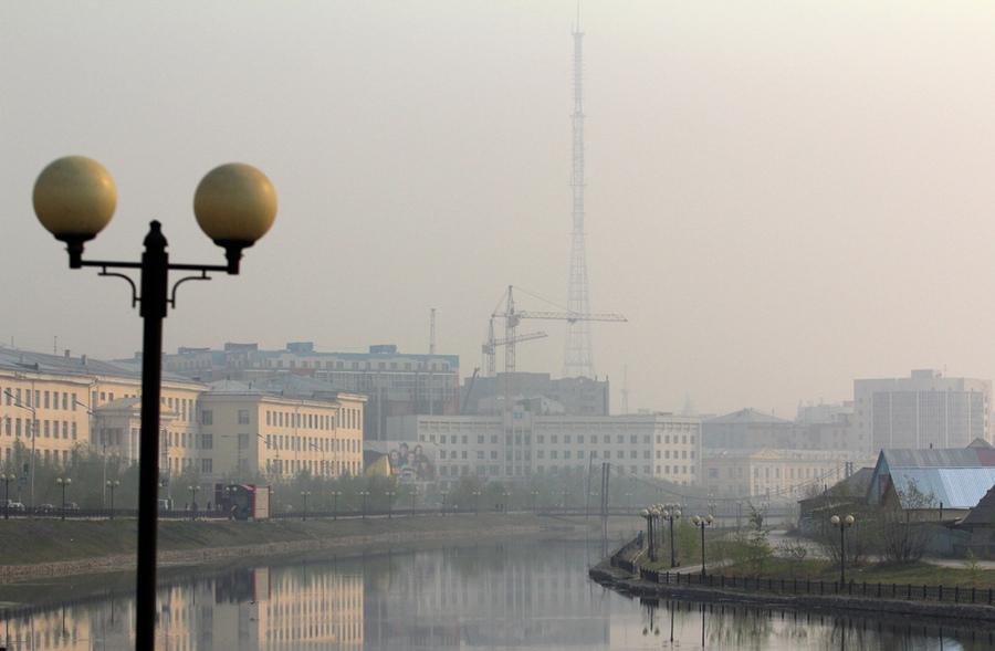 В Якутске  в пробах воздуха зафиксировано превышение содержания углекислого газа