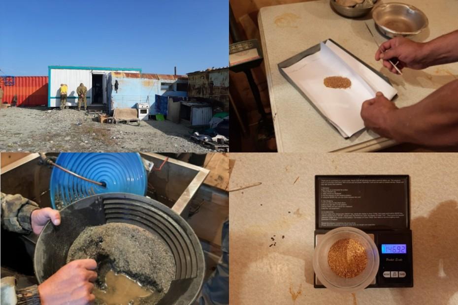 Оперативниками пресечена незаконная добыча природного золота в Якутии