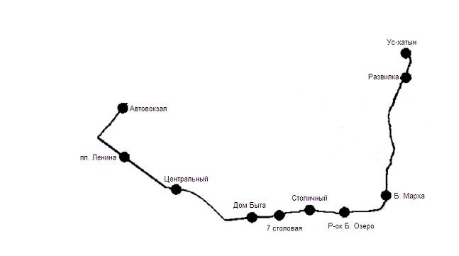 9NZO46u7 До местности «Ус-Хатын» будут курсировать два автобуса №155 и 156